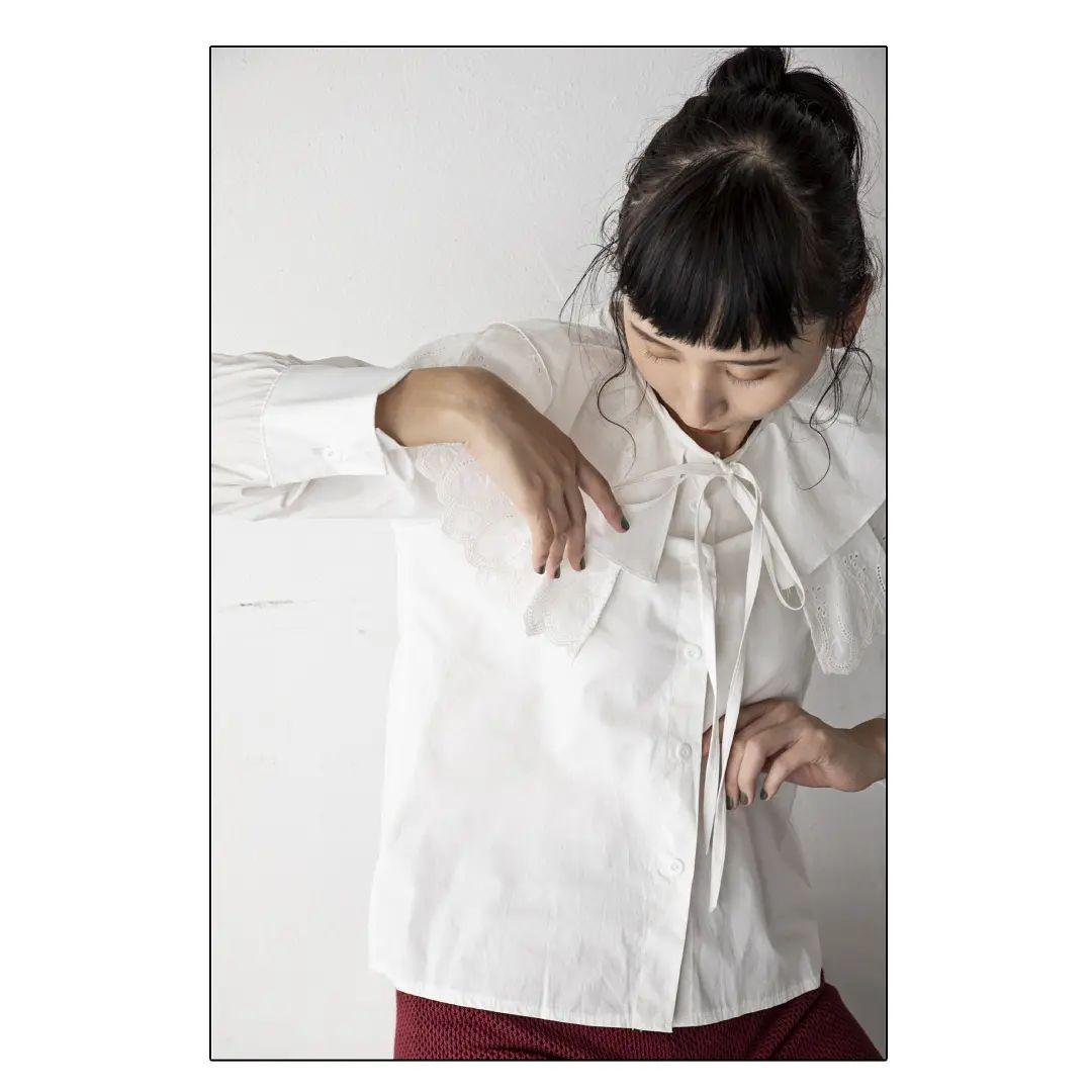 ▷frill collar BL¥6,490⇒¥3,245(50%OFF)off/ivory甘めブラウスはパンツやサロペットに合わせて。お得なお値下げ品です。#kariandlili#kari#カウリアンドリィリィ#カウリ#韓国ファッション#韓国コーデ#韓国ブラウス#フリル#フリルブラウス#ブラウスコーデ#ブラウススタイル#大人コーデ#大人スタイル#大人可愛い#wear#fashion