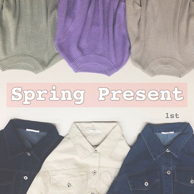 """.【  Spring present  1st  】お客様に少しでも楽しい気持ちになって頂ける様にそして日頃の感謝の気持ちを込めまして・デニムbig Gジャン・ボリューム袖ラメニットこちらのアイテムをセットで3名様にプレゼント致します(※セットのカラーは変更出来ません)【応募方法】・RETRO GIRL 公式Instagramをフォロー・こちらの投稿に""""いいね""""と希望番号(NO.1〜NO.3)をコメント(※お一人様一回限り)自身のInstagramに @retrogirl_official をタグ付けして投稿して下さっている方は当選率UP※鍵アカウントの方は確認が出来ない為、当選率UPは出来かねますのでご了承下さい【応募期間】・4/4(土)12:00〜4/6(月)12:00まで【当選者発表】・4/7(火)にストーリーにて発表その後、当選者の方にDM️をお送り致します【注意事項】・応募方法に誤りがある場合、応募期間外の投稿はすべて無効とさせて頂きます・当選に関するお問い合わせは受けつけておりませんたくさんのご応募お待ちしております#retrogirl #レトロガール #プレゼント企画"""