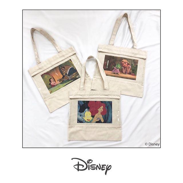 ︎Disney design item————————————————ES052443C001〈Disney Princess〉トート¥2300+taxA4もしっかり入るトートBAGPVC素材から作品のワンシーンが見える仕様#Disney #Disneyprincess #princess#ディズニー #ベル #アリエル #ラプンツェル#emsexcite #エムズエキサイト
