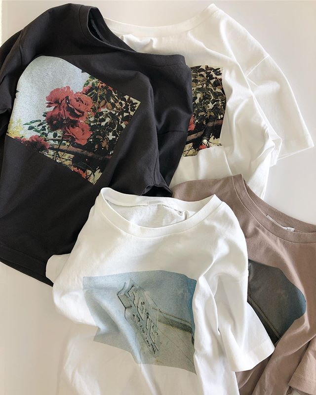 .【new arrival】.?RE941511B016アソートフォトTee▷¥1,900+tax(今日.明日店舗入荷).∥color∥ d-gray / white / off / moca..#retrogirl#newarrival#fashion#summer#tops#レトロガール#カジュアル#カジュアルアイテム#プチプラ#プチプラアイテム#プチプラファッション#プチプラコーデ#フォトt#フォトtシャツ