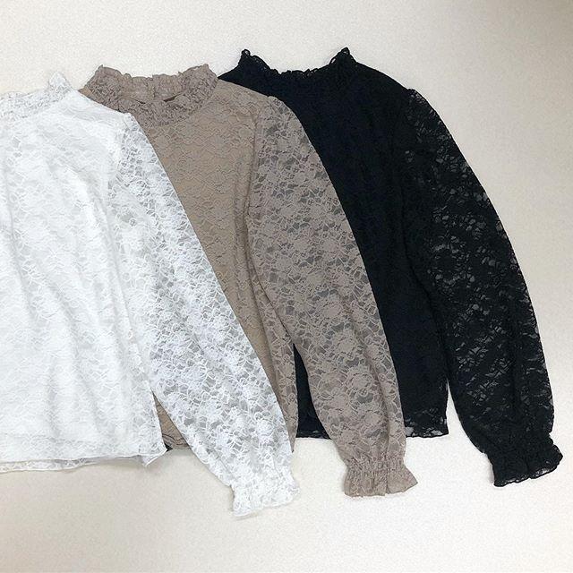 .【new arrival】.🏷RF954711C002レースHN Tee▷¥1,900+tax(今日.明日店舗入荷).∥color∥white / brown / black..#retrogirl#newarrival#fashion#Autumn#lace#レトロガール#カジュアル#カジュアルアイテム#プチプラ#プチプラアイテム#プチプラファッション#プチプラコーデ#レーストップス#レースtシャツ