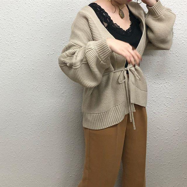 .【Recommended  knit item】.🏷RW939412C001袖ケーブルニットカーデ▷¥2,900+tax(店舗入荷中).∥color∥beige / grey / brown / orange..#retrogirl#newarrival#fashion#Autumn#knit#レトロガール#カジュアル#カジュアルアイテム#プチプラ#プチプラアイテム#プチプラファッション#プチプラコーデ#ニットカーディガン#ケーブルニットカーディガン#カーディガン