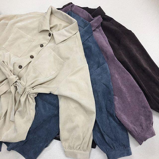 .【new arrival】.🏷RF980023C013 細コールドロストSH▷¥2,900+tax(店舗入荷中).∥color∥white / blue / purple / brown..#retrogirl#newarrival#fashion#Autumn#shirt#レトロガール#カジュアル#カジュアルアイテム#プチプラ#プチプラアイテム#プチプラファッション#プチプラコーデ#ドロストシャツ#シャツコーデ