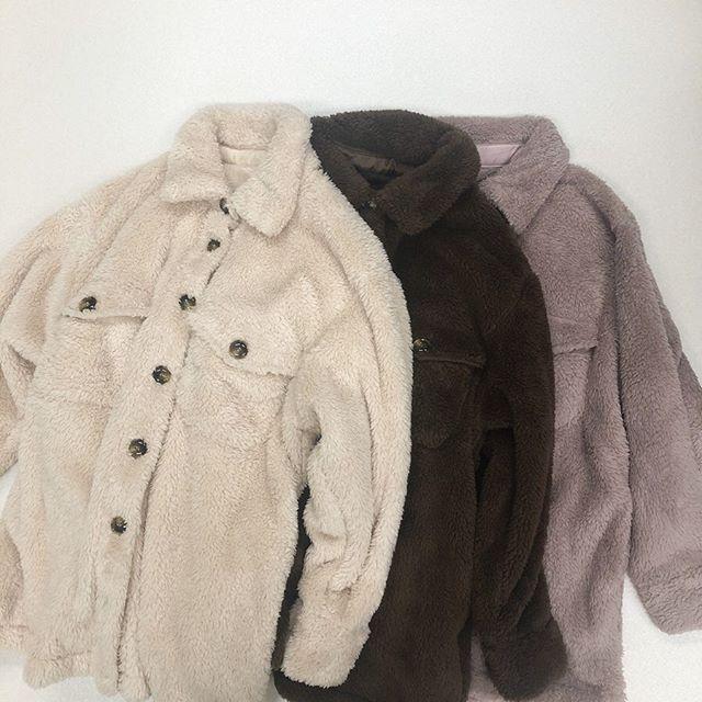 .【new arrival】.🏷RW9P0121D003 ボアCPOジャケット▷¥3,500+tax(店舗入荷中).∥color∥ivory / brown / pink..#retrogirl#newarrival#fashion#Autumn#レトロガール#カジュアル#カジュアルアイテム#プチプラ#プチプラアイテム#プチプラファッション#プチプラコーデ#ボアジャケット#CPOジャケット