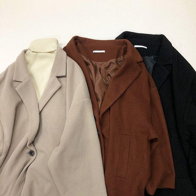 .【new arrival】.🏷RW980021D007 Fウールゆるジャケット▷¥3,900+tax(店舗入荷中).∥color∥beige / brown / black..#retrogirl#newarrival#fashion#winter#jacket#レトロガール#カジュアル#カジュアルアイテム#プチプラ#プチプラアイテム#プチプラファッション#プチプラコーデ#ウールジャケット#ジャケット#ジャケットコーデ