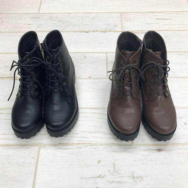 .【pick item】.🏷RW955242C007 レースアップブーツ▷¥2,900+tax(店舗再入荷).∥color∥brown / black(M.L)..#retrogirl#newarrival#fashion#Autumn#boots#レトロガール#カジュアル#カジュアルアイテム#プチプラ#プチプラアイテム#プチプラファッション#プチプラコーデ#ブーツ#レースアップブーツ