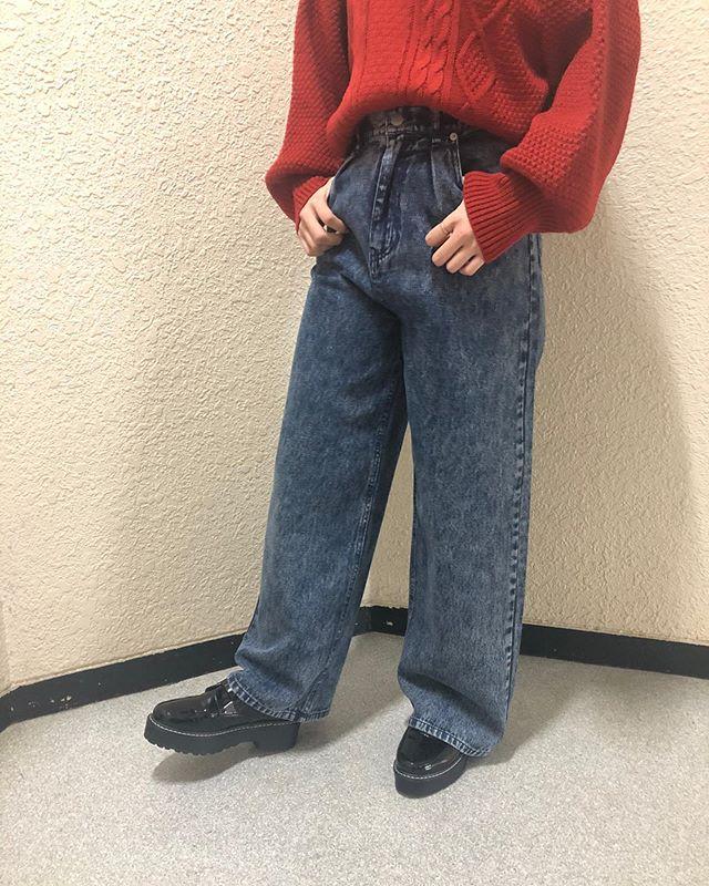 .【new arrival】.?RU034832D001 デニムルーズワイドPT▷¥2,900+tax(店舗入荷中).∥color∥D-blue / chemical.モデル:157cm..#retrogirl#newarrival#fashion#winter#pants#レトロガール#カジュアル#カジュアルアイテム#プチプラ#プチプラアイテム#プチプラファッション#プチプラコーデ#デニムパンツ#ワイドパンツ#ワイドパンツコーデ