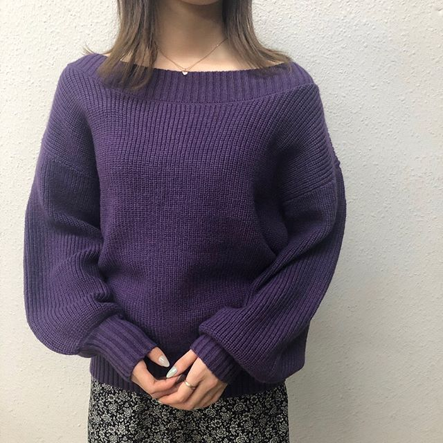 .【new arrival】.🏷RW980012D008 オフショルニット▷¥2,900+tax(今日.明日店舗入荷).∥color∥L-khaki / purple / beige / brown / pink..#retrogirl#newarrival#fashion#winter#knit#レトロガール#カジュアル#カジュアルアイテム#プチプラ#プチプラアイテム#プチプラファッション#プチプラコーデ#プリントトップス#ニット#オフショルニット#カラーニット