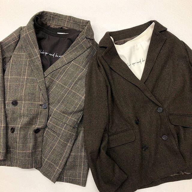 .【new arrival】.?RW9P0121D005 FウールテーラードJK▷¥3,900+tax(店舗入荷中).∥color∥check / herringbone..#retrogirl#newarrival#fashion#winter#jacket#レトロガール#カジュアル#カジュアルアイテム#プチプラ#プチプラアイテム#プチプラファッション#プチプラコーデ#テーラードジャケット#チェックジャケット#セットアップ