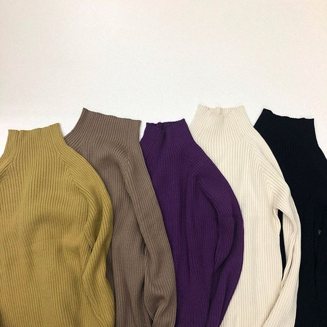 .【new arrival】.?RW980012D007 リブハイネックNT▷¥1,900+tax(店舗入荷中).∥color∥yellow / brown / purple / ivory / black..#retrogirl#newarrival#fashion#winter#knit#レトロガール#カジュアル#カジュアルアイテム#プチプラ#プチプラアイテム#プチプラファッション#プチプラコーデ#ハイネックニット#リブニット#ニットコーデ