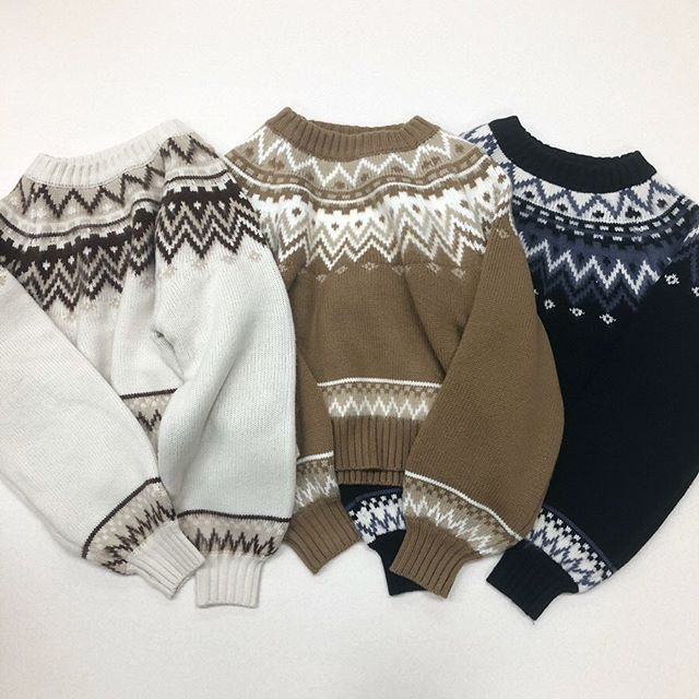 .【new arrival】.🏷RW939412D007 求心柄ニット▷¥3,500+tax(店舗入荷中).∥color∥ivory / brown / black..#retrogirl#newarrival#fashion#winter#knit#レトロガール#カジュアル#カジュアルアイテム#プチプラ#プチプラアイテム#プチプラファッション#プチプラコーデ#オフタートル#ニット#求心柄ニット#ニットコーデ