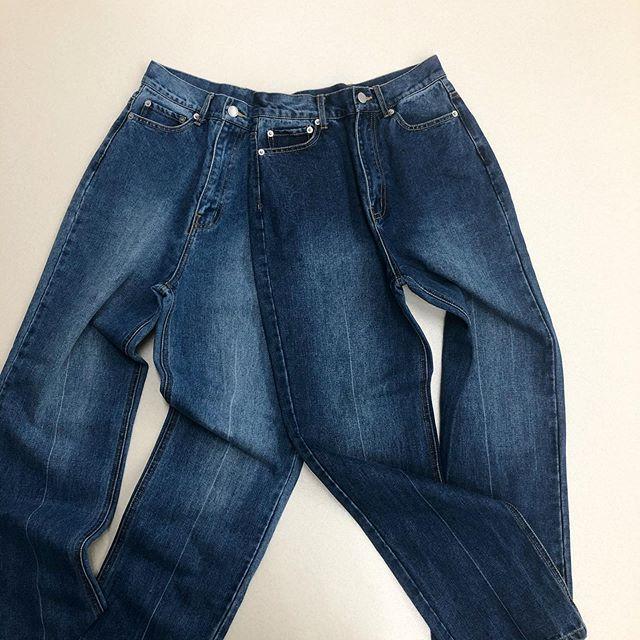 .【new arrival】.🏷RP034832A001 センターラインデニムPT▷¥2,900+tax(店舗入荷中).∥color∥L blue / D blue(M ・ L).モデル:158cm..#retrogirl#newarrival#fashion#springfashion#denimpants#レトロガール#カジュアル#カジュアルアイテム#プチプラ#プチプラアイテム#プチプラファッション#プチプラコーデ#デニムパンツ#センターラインパンツ#デニムコーデ