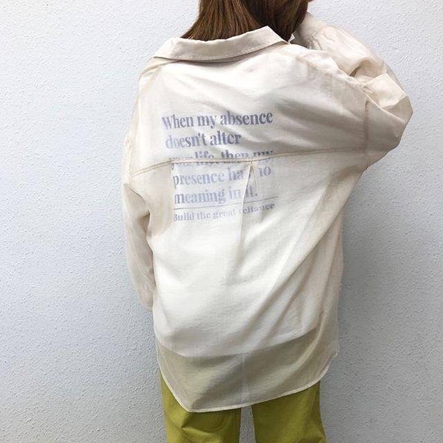 .【new arrival】.?RP080022A009 シアーBIGシャツ▷¥2,900+tax(店舗入荷中).∥color∥beige / orange / khaki / brown..#retrogirl#newarrival#fashion#springfashion#レトロガール#カジュアル#カジュアルアイテム#プチプラ#プチプラアイテム#プチプラファッション#プチプラコーデ#シアーシャツコーデ#シアーシャツ#シアービッグシャツ