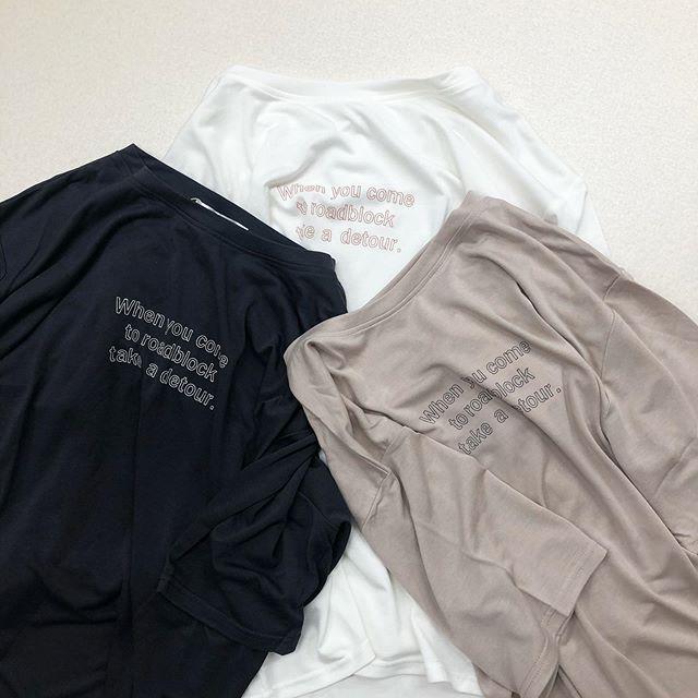 .【new arrival】🏷RS056411C011サンドウォッシュロゴTee▷¥1,900+tax(今週店舗入荷 オンライン近日入荷)∥color∥white / beige / D-gray#retrogirl_style#retrogirl2020ss#レトロガール#レトロガールコーデ#ロゴtシャツ#サンドウォッシュtシャツ